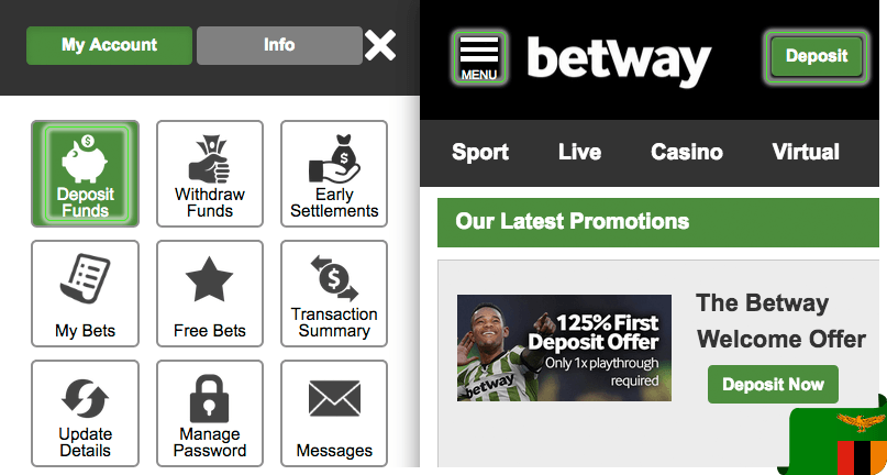 How to make a deposit in Betway Zambia?