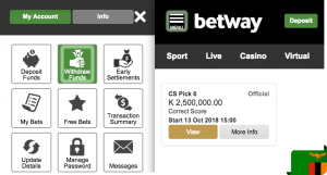 Betway withdraw
