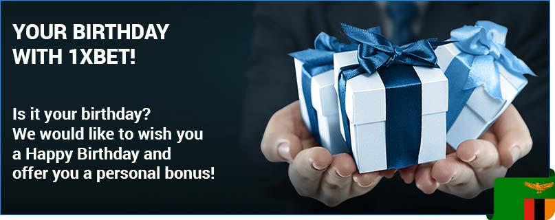 1xbet happy birthday bonus