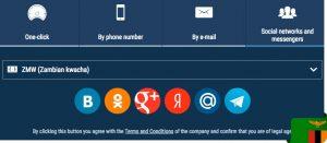 1xbet social networks registration