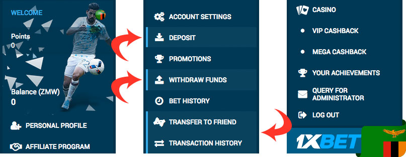 1xbet withdraw funds