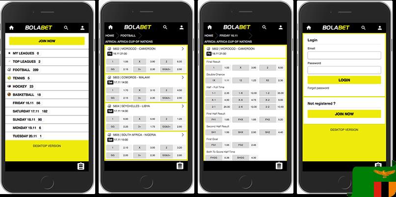 Bolabet mobile app