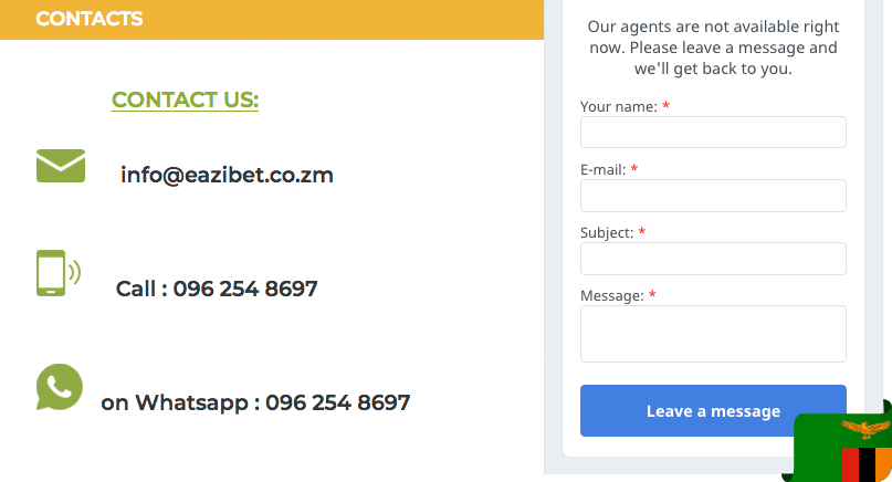 Eazibet contacts