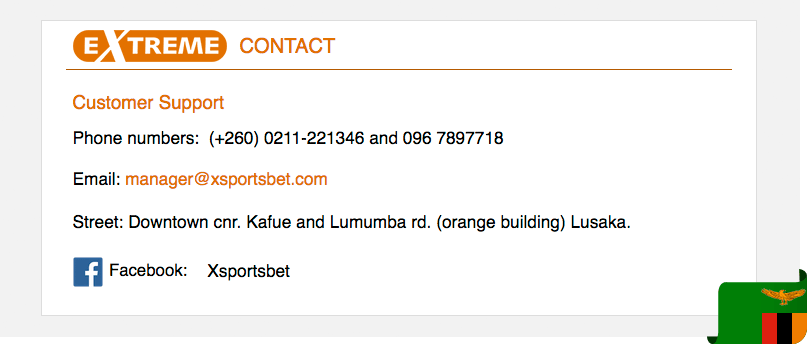 Xsportsbet contacts