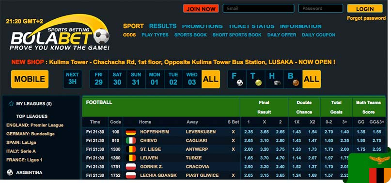 Bolabet1x2 Zambia Registration - Short Sports Book