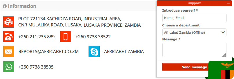 Africabet contacts